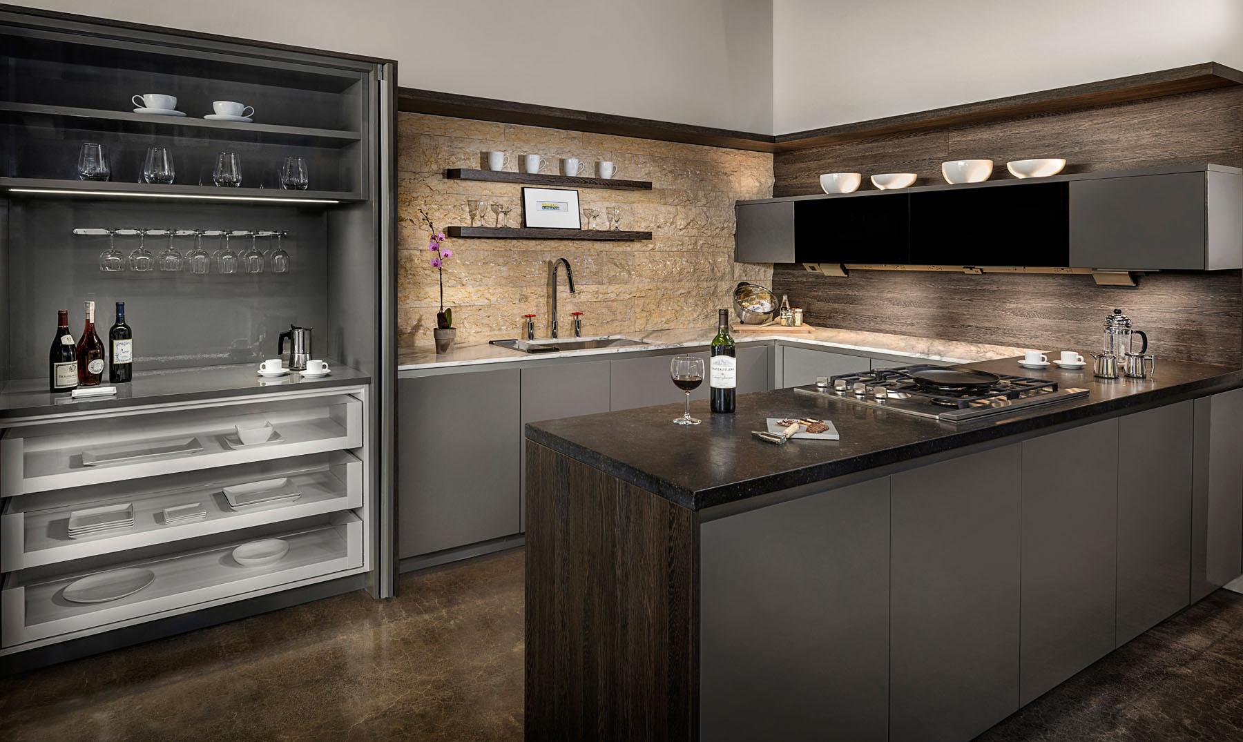 Laguna Beach Contemporary kitchen showroom